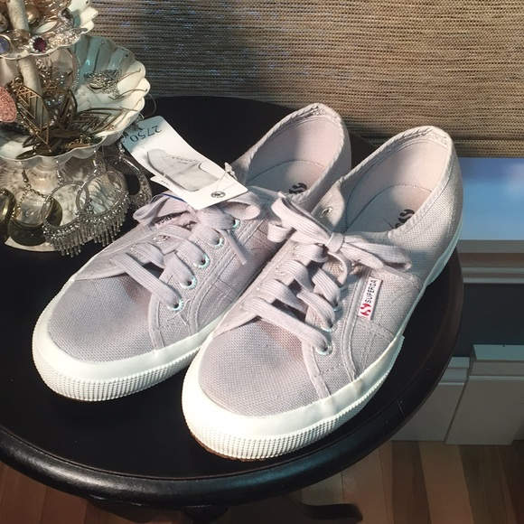 Superga Shoes | 8m Gray Sneakers New